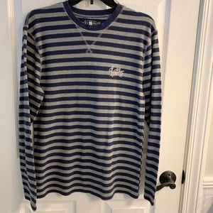 Lucky Brand Striped Ribbed Tee. Size S